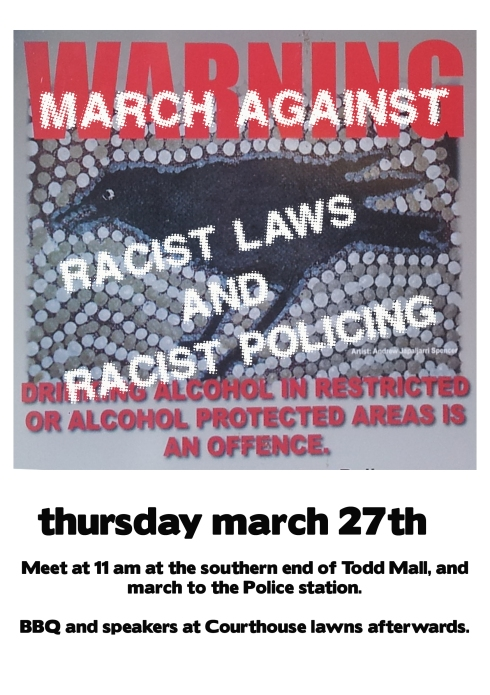 racist policing march colour