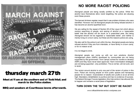 rally this thursday against racist laws and racist policing